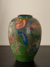 HAND PAINTED CERAMIC VASE, LARGE